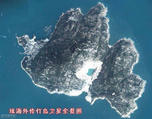 珠海外伶仃岛卫星全景图